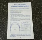 Vintage Lionel HO Trains How To Operate Remote Control Switches 0922-9 9-57