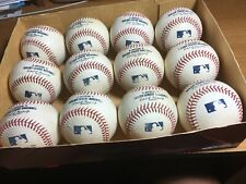 12 Rawlings Major League Baseballs Manfred Game Used Mudded Great Sweet Spots!