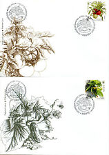 Ukraine 2016 Fdc Vegetables Tomatoes Peppers 4v S/A Set Cover Plants Stamps