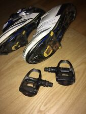 Shimano SH-R190 Elite Road Bike Cycling Shoes Size 44 W/ Clips And Pedals