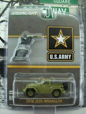 '17 GREENLIGHT 2016 MILITARY JEEP WRANGLER W/ SOLDIER FIGURE U.S. ARMY SERIES