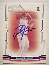 DALLAS McPHERSON signed ANGELS 2005 Donruss Throwback Threads baseball card AUTO