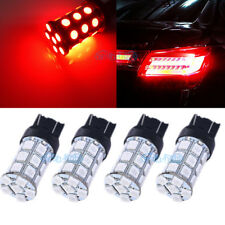 4Pcs 7443 7440 Red 27-LED 5050SMD For Brake Tail Stop Light Bulbs Lamps