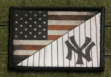 New York Yankees Uniform USA Flag Morale Patch Tactical Military Army Baseball