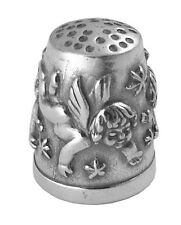 CHERUB THIMBLE OXIDISED ANTIQUE FINISH STERLING SILVER 925 FROM ARI D NORMAN
