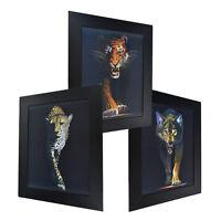 3 Dimension 3D Lenticular Picture Cheetah Tiger Wolf Leopard Fierce Wild Animal
