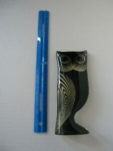 "Brazilian Artist Abraham Palatnik Lucite Night/Day Owl Sculpture, 7 1/2"""