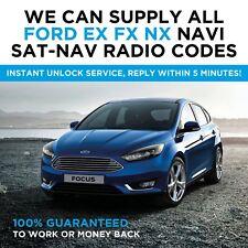 Todos los FORD EX FX NX código de radio Navi SAT NAV descodificar UNLOCK FOCUS MONDEO S-Max C-Max