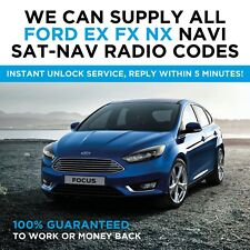 ALL FORD EX FX NX NAVI SAT NAV RADIO CODE DECODE UNLOCK FOCUS MONDEO S-MAX C-MAX