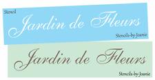 Joanie STENCIL Jardin de Fleurs Garden Flower Floral Shop French Cottage Signs