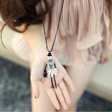 Cute Doll Pendant Charm Women Jewelry Necklace Handmade Fashion Sweater Chain