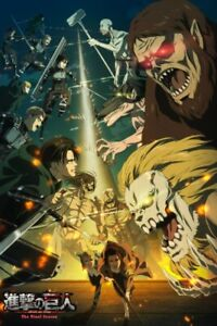 "Attack on Titan Final Season Poster 48x32"" 36x24"" 21x14"" Anime 2020 New Silk"