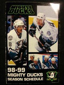 Anaheim Mighty Ducks 1998 Pocket Schedule