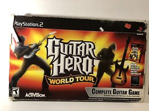 PS2 Guitar Hero World Tour Wireless Guitar Bundle Complete With Dongle & Game