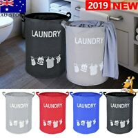 Foldable Large Oxford Washing Hamper Bin Basket Laundry Clothes AU Bag Storage