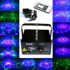 LED 9W 24Patterns GB Projector Laser Stage Light DJ Disco Party Show Lighting US