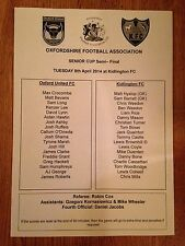 Kidlington v Oxford United - Oxford Senior Cup Semi-Final - 8th April 2014
