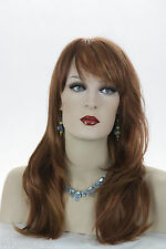 Fire Red/Strawberry Blonde /Dark Auburn  Red Long Straight Skin Top Wigs
