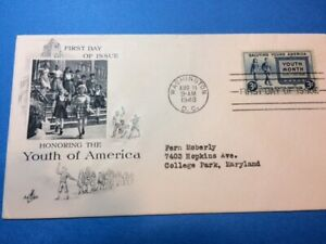 #963 Artcraft FDC 1948 L88 10c Youth of America