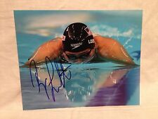 RYAN LOCHTE SIGNED AUTO 8x10 PHOTO SWIMMING OLYMPICS USA U.S.A. PROOF* **WOW** 8
