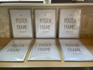 SET OF SIX A3 POSTER/PICTURE FRAMES