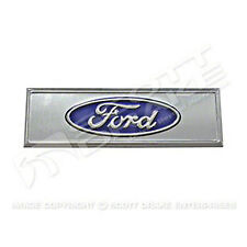 CARPET SILL PLATE EMBLEM; BLUE OVAL FORD LOGO; 67-73 MUSTANG
