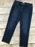 Womens 14 J Jill Slim Boyfriend Denim Jeans Blue Pants