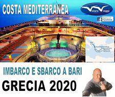 Crociera isole greche con Costa Crociere durata 8 giorni da Bari 13 giugno 2020