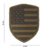 AIRSOFT morale patch 3D PVC shield USA desert hook and loop