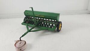 Vintage Ertl Eska John Deere Grain Drill Green top nice toy 1950s