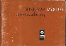 CHRYSLER SUNBEAM 1250 / 1500 Betriebsanleitung Bedienungsanleitung Handbuch BA