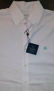 Mens Brooks Brothers 346 Pink Dress Shirt W/logo Sz M NWT Brookscool Non-Iron