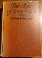 THE AGE OF INNOCENCE Edith Wharton FIRST EDITION 1920 Cloth Binding RARE