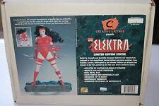 MARVEL ELEKTRA STATUE CREATIVE LICENSE; W COA IN BOX 1996