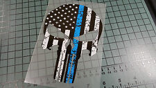 PUNISHER POLICE TRIBUTE DISTRESSED Sticker Decal Vinyl Cop America Merica