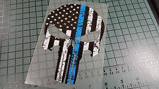 PUNISHER POLICE TRIBUTE DISTRESSED Sticker Decal Vinyl Cop America Merica