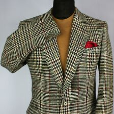 Tweed Jacket Blazer Zegna Check 38R AMAZING ITALIAN TWEED GARMENT 2846