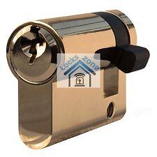 HALF EURO CYLINDER GARAGE LOCK BARREL SECURITY BRASS FIRE DOOR SHUTTER ANTI-BUMP