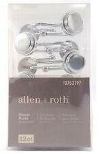 Allen + Roth Shower Hooks Set of 12 Chrome Finish