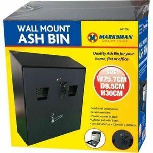 WALL MOUNTED ASH BIN ASHTRAY CIGARETTE BIN TRAY STEEL WASTE SMOKING