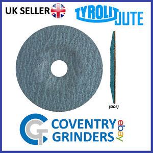 Pack of 5 Tyrolit JUTE Vulcanised Fibre / Grinding Discs For Steel & Stainless