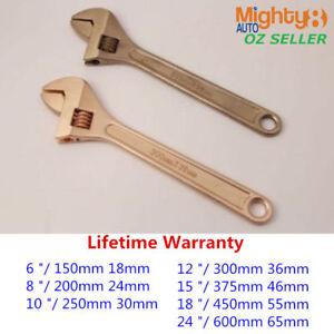 Non-Sparking Sparkproof Adjustable Spanner Shifter Be-Cu Copper / Al-Br Brass