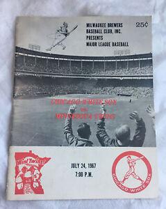 Milwaukee Brewers Present White Sox Vs Twins July 24 1967 Scorecard/Scored