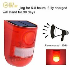 SZYOUMY Solar Powered Sound Alarm Strobe Light Flashing 6LED Light Motion Sensor