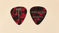 Marilyn Manson - 2012 Cruel Tour Pearl Red & Silver Guitar Pick Jason Sutter