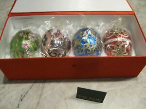 Joan Rivers Classic Collection * Russian Egg Christmas Ornaments *