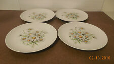 HOLIDAY CHINA MADE IN GERMANY SET OF 4 DINNER PLATES WHITE DAISIES