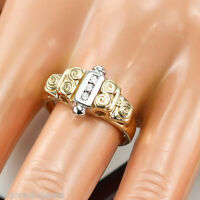 COCKTAIL RING 0.25 CT. VS1 - F ROUND GENUINE DIAMOND 14K YELLOW GOLD size 7.5