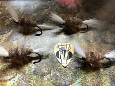 4 V Fly Size 4 Ultimate RV Hi Float Brown Russian Bomber Salmon Flies