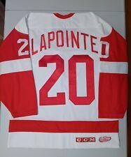 MARTIN LAPOINTE CCM Detroit Red Wings White Jersey Large NHL Yzerman Hasek